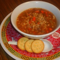 Barley and Beef Soup recipe