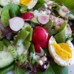 Spring Salad With Buttermilk Cream Dressing recipe