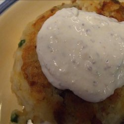 Ham and Potato Patties With Horseradish Sauce recipe