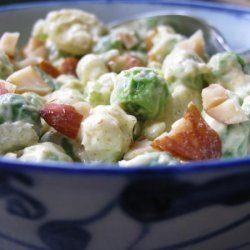 Curry Pea Salad With Almonds recipe