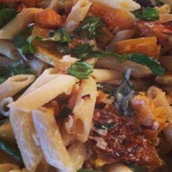 Penne With Butternut Squash and Goat Cheese (Courtesy Giada D) recipe