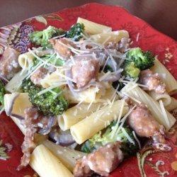 Rigatoni With Roasted Sausage and Broccoli recipe