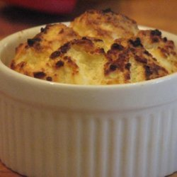 Twice-Baked Goat Cheese Soufflés on a Bed of Mixed Greens recipe