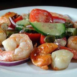 Shrimp and Scallops With Speedy Salad recipe