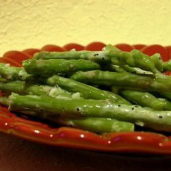 Chilled Asparagus With Lemony Garlic Dressing recipe
