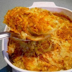 Potato Gratin with Mustard and Cheddar Cheese recipe