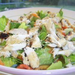 Grilled Sesame Chicken and Salad recipe
