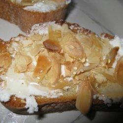 Goat Cheese, Almond, and Honey Tartine recipe