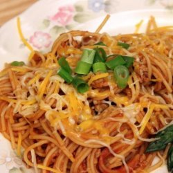 Fiesta Skillet Spaghetti recipe