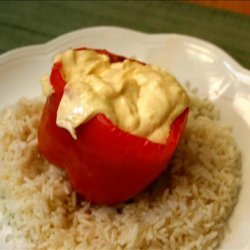 Hot Stuffed Bell Peppers recipe