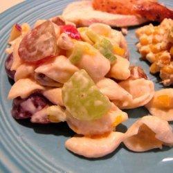 Pasta and Black Walnut Fruit Salad recipe