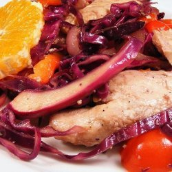 Chicken and Red Vegetable Stir-Fry recipe