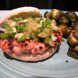 Jamaican Jerk Turkey Burgers With Tropical Fruit Salsa recipe