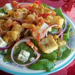 Spinach Salad With Roasted Garlic and Bacon Dressing recipe