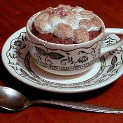 Hot Chocolate Cake With Marshmallows recipe