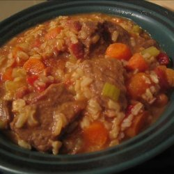 Beef Stew With Tomatoes and Rice recipe