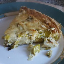 Leek, Onion, Brussels Sprouts Quiche/Pie recipe