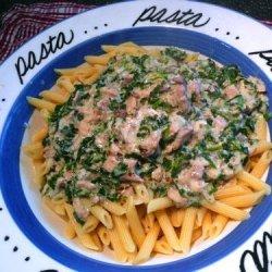 Salmon and Spinach Pasta recipe