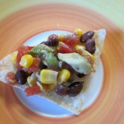 Avocado ,black Beans and Corn Dip (Great for the Big Game) recipe