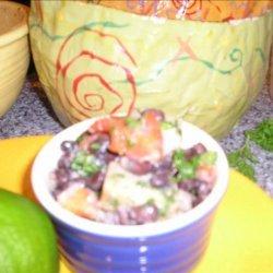 Malanga, Black Bean and Pepper Salad recipe