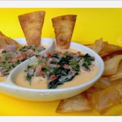 Walnut Brewery's Spinach Con Queso Dip recipe