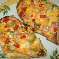 Abbey's Melted Cheddar, Sausage and Olive Sandwich recipe