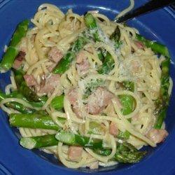 Spaghetti With Asparagus and Ham recipe