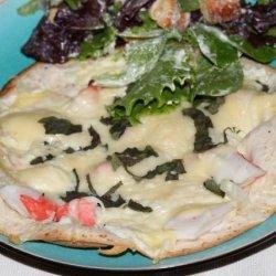 Tortilla Crab Pizza recipe