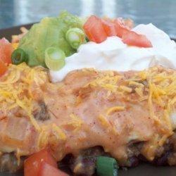 Cheesy Beef and Bean Enchiladas recipe