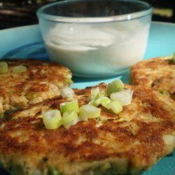 Salmon Cakes With Ginger-Sesame Sauce recipe