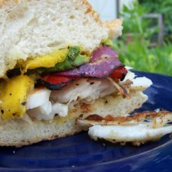 Grilled Halibut Sandwich recipe