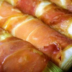 Baked Leeks With Prosciutto recipe