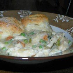 Chicken Pot Pie With Buttermilk Biscuit Crust recipe