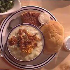 Baked Potato Soup & Bread Bowl recipe