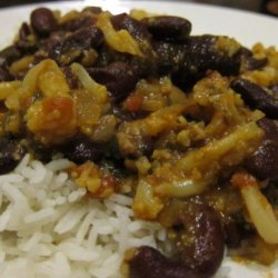 Curried Red Kidney Beans and Cauliflower (Rajma Masala) recipe