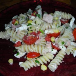 Pasta Salad With Tuna, Corn and Cherry Tomatoes recipe