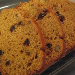 Pumpkin Raisin Walnut Quick Bread recipe