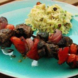 Marinated Veggie Beef Kabobs recipe