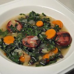 Skinny Portuguese Kale and Potato Soup (Caldo Verde) recipe