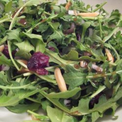 Arugula and Almond Salad With Dried Cranberries recipe