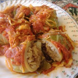 Sweet and Sour Cabbage Rolls With Sauerkraut recipe