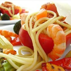 Personilized Pasta With Roasted Veggies and Shrimp recipe