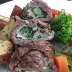Rachael Ray's Flank Steak Pinwheels recipe
