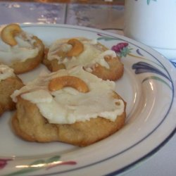Frosted Cashew Cookies recipe