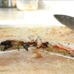 Stuffed Focaccia With Roasted Eggplant and Oregano recipe