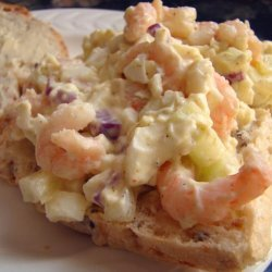 Not Your Grandma's Egg Salad (Curried Egg Salad With Shrim recipe