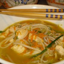 Ginger Vegetable Chicken Noodle Bowl recipe