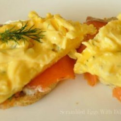 Scrambled Eggs With Dill and Smoked Salmon recipe