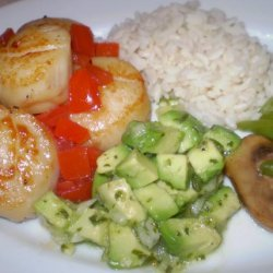 Scallops With Avocado Salsa recipe