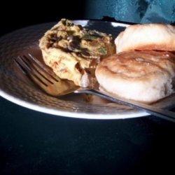 Cheesy Baked Ham Omelet Squares recipe